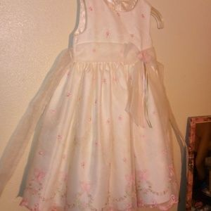 American Princess, 3T frilly White and pink dress